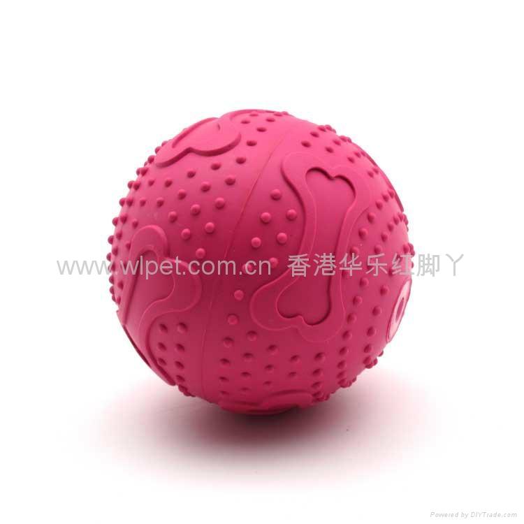 橡胶骨纹发声球 2
