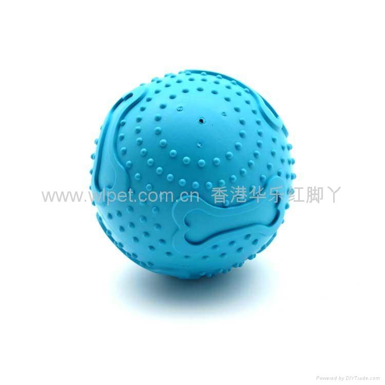 橡胶骨纹发声球 3