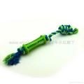 橡胶洁齿棒连绳结