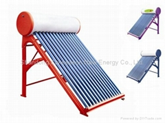 Compact unpressurized solar hot water heaters