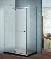 Square single hinged shower door