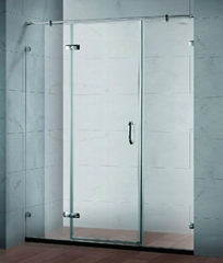 Framless hinge shower panel