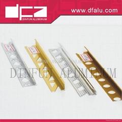 Aluminium straight edge tile trims