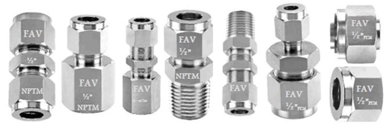 Fav double ferrule compression tube fittings india