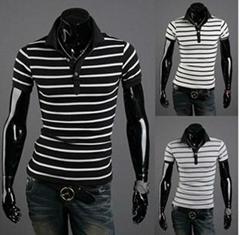 wholesale men leisure pure cotton t shirt best quality free shipping