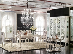 High quality Classcia solid wood diningroom set