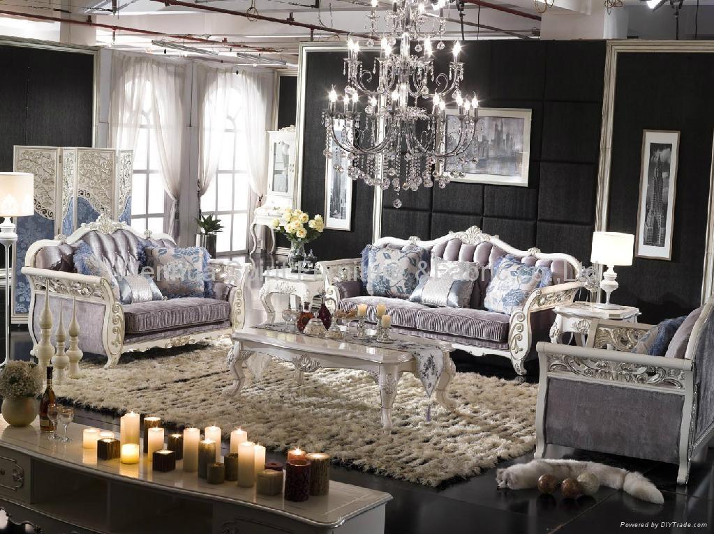 European Style Solid Wood Villa Sofa 1