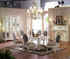 High quality Classcia wood carving diningroom set