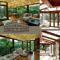 上海高档纯木铝木门窗