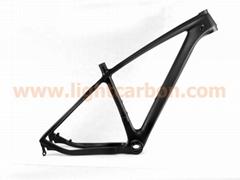 "2013 LIGHTCARBON 29"" hard tail carbon MTB bicycle Frameset"