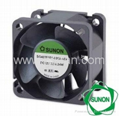 Sunon 4028 high air flow ventilating fan dc cooling fan