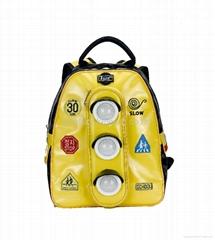 Korean models Traffic lights Backpack