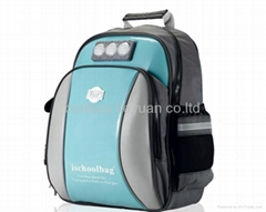 Sky Blue Mini lights Glossy Medium Backpack