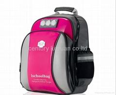 Pink Mini lights Glossy Medium Backpack