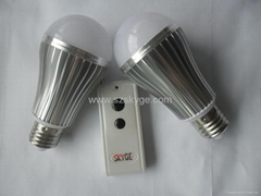 LED BULB with remote control -Control Turning on/off separately
