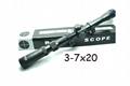PRO 3-7X20mm Mil-DOT Hunting Rifle Scope