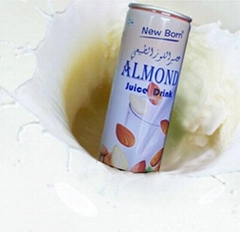 240ml almond juice in can