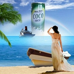 can packed 240ml coconut water beverage drink