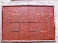 達成廠家直銷 壓花彩色地坪專用模具 新型磚壓印模具 橫堅磚模具