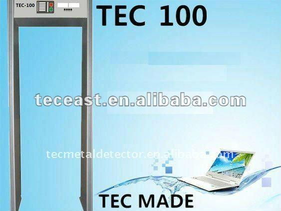 6 sensor zones walk through metal detector security gate TEC-100 1