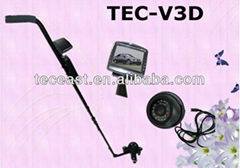 Wide Angle telescoping inspection mirror under vehicle security check camera