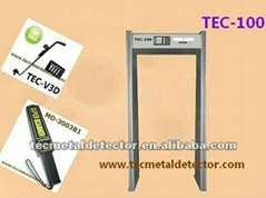 airport security gate door frame metal detector TEC-100
