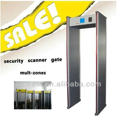 walk through metal detector for security inspection with 6 zones  1