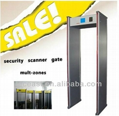walk through metal detector for security inspection with 6 zones