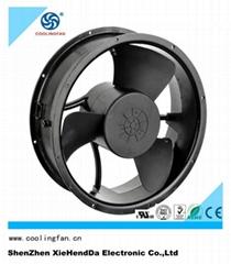 254*89mm 24v 48v 2800RPM dc axial cooling fan