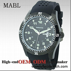 Black styles Military watches,316 stainless steel watch case 46.0 * 54.0