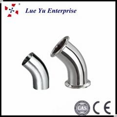 Stainless Steel Pipe Fittings Sanitary butt welding elbow45 degree