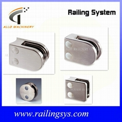 stainless steel glass clamp for handrial rail