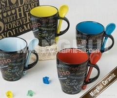 Liliing stoneware coffee mugs
