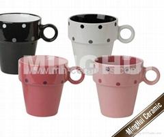ceramic stackable mugs