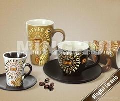 各色咖啡牛奶杯碟