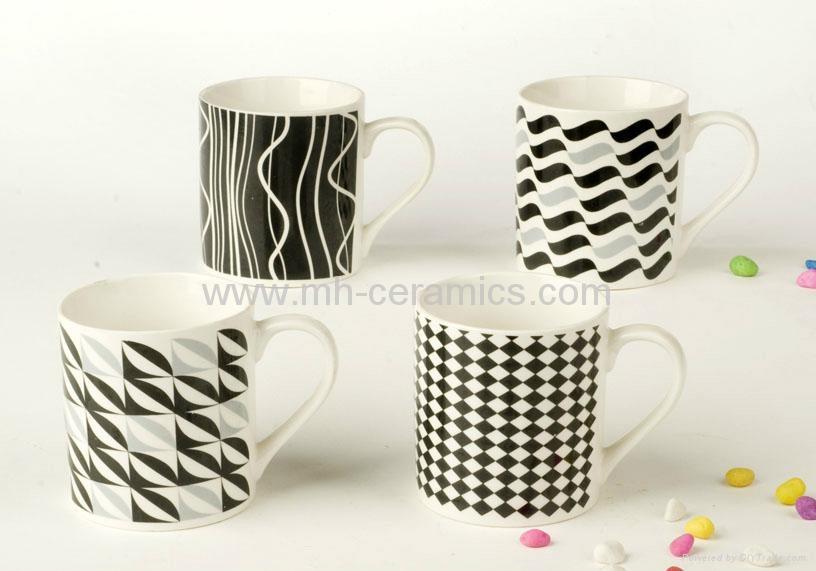Ceramic Coffee Mugs With Silk Screen Printing Design