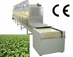 industrial conveyor belt type microwave oven for drying and sterilizing tea