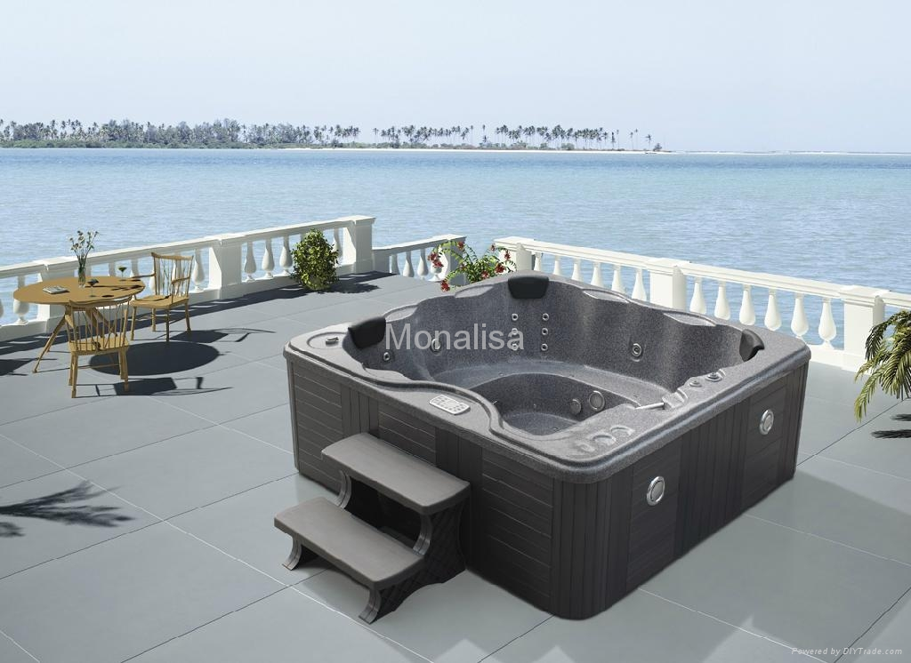 Monalisa freestanding outdoor spa bathtub with jacuzzi M-3301 (China ...