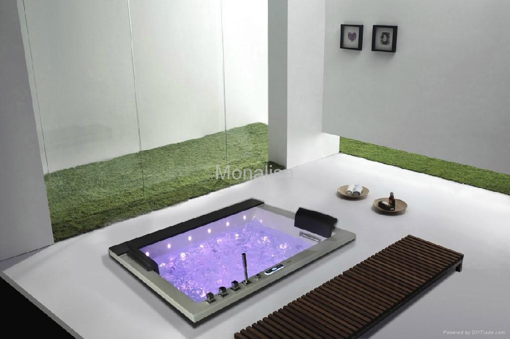 Home built-in square jacuzzi hot tub with LED light M-2050 - Product