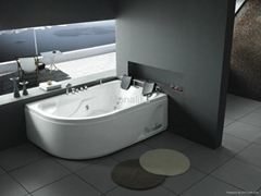 Factory directly sell corner two person massage bathtub