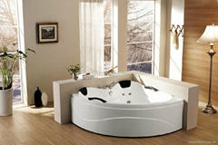 Manufacture of Acrylic indoor corner massage bathtub M-2005