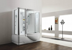 Monalisa white steam shower room with jacuzzi M-8250