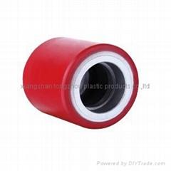 polyurethane roller with cast iron 80*70 pallet truck roller