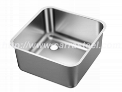 Stainless steel catering sink bowl