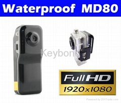 Full HD 1080P Waterproof action camera mini dv MD80