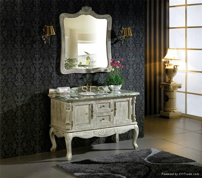 Classic White Antique Bathroom Cabinets Sesol