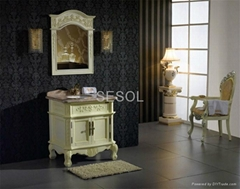 Durable and Classic Design Solid Wood Bathroom Vanities