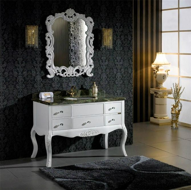 Bathroom Antique White Single Sink Vanity Cabinet ... - Bathroom Antique White Single Sink Vanity Cabinet - 307 - Sesol