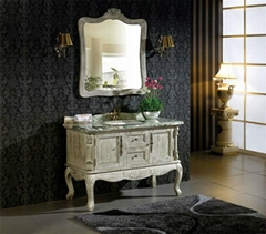 Classic Design Luxury Solid Wood Bathroom Cabinet