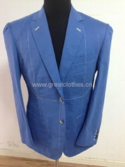 hand-made men suit half-lining